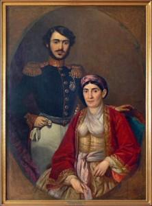 Kneginja Ljubica i njen sin Milan Obrenović