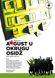 Plakat predstave AVGUST U OKRUGU OSIDŽ