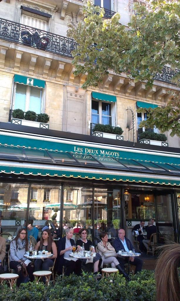 kafe Les Deux Magots - Hemingvej