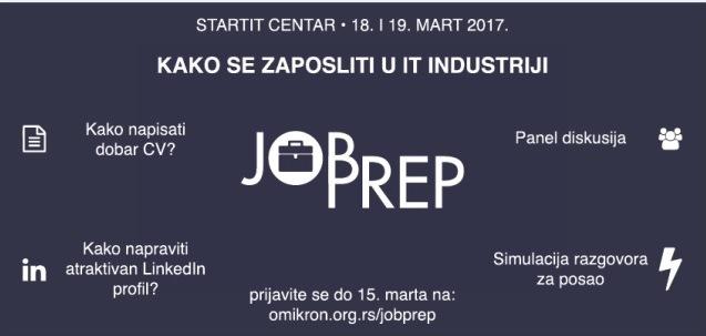 jobprep beograd 2017