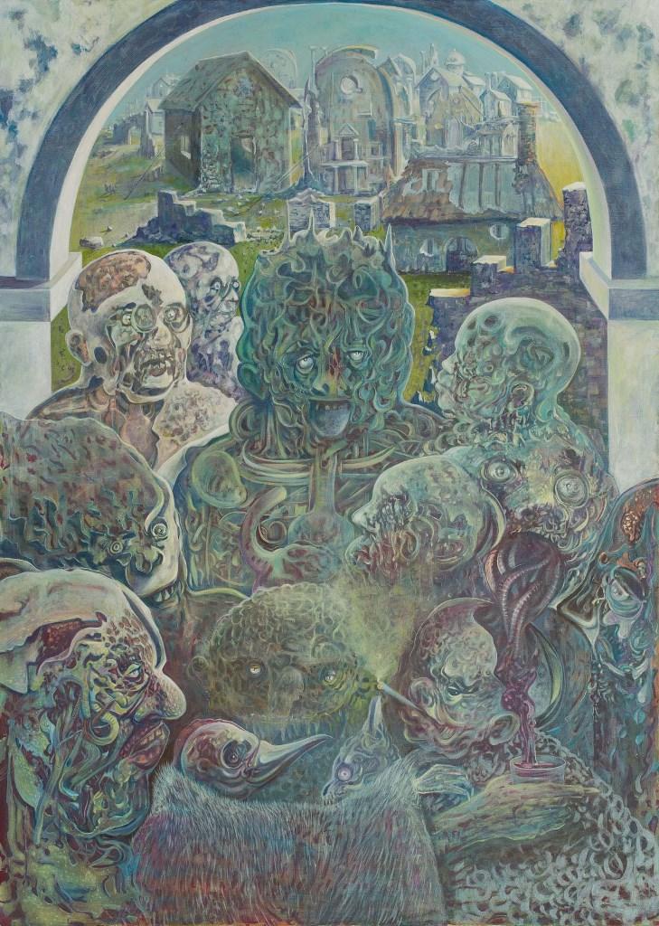 Stefan Marjanovic - Blurheads, 140 H x 100 W cm, ulje na platnu