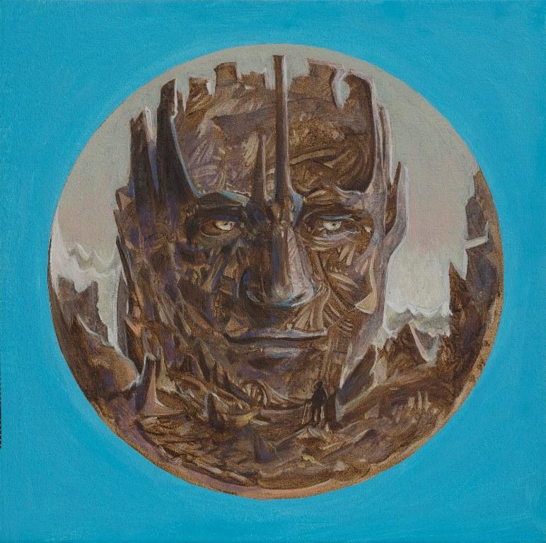 Stefan Marjanovic - Mountain, 20 H x 20 W cm, ulje na platnu