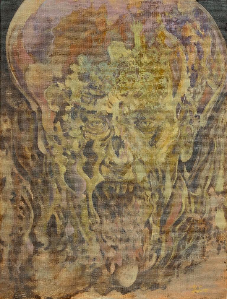 Stefan Marjanovic - The face of fear, 40 H x 30 W cm, ulje na platnu