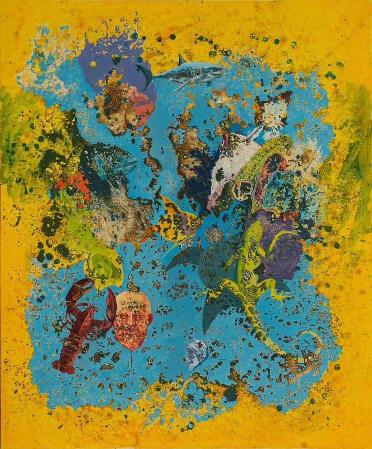 Stefan Marjanovic - Under the dust, 120 H x 100 W cm, ulje na platnu