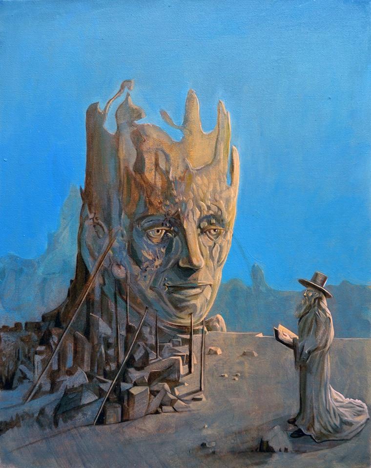Stefan Marjanovic - Undersky, 50H x 40W cm, ulje na platnu