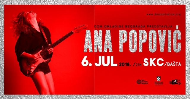 Ana Popovic koncert SKC 2019 Beograd