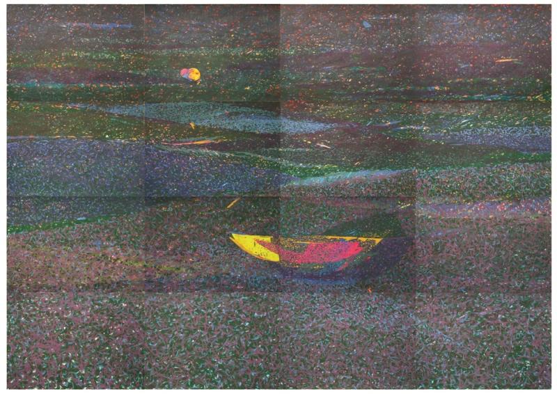 Nikola Radosavljevic - Darovanje, crtež u boji na papiru, 140 x 200 cm, 2018, NR (2)