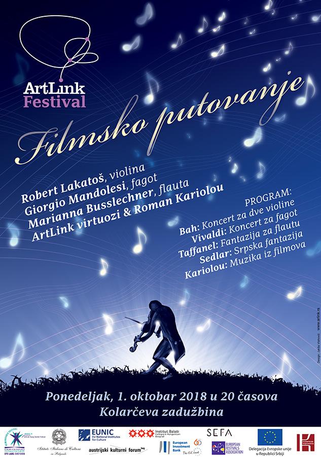 ArtLink festival Filmsko putovanje 2018 Beograd Kolarceva zaduzbina