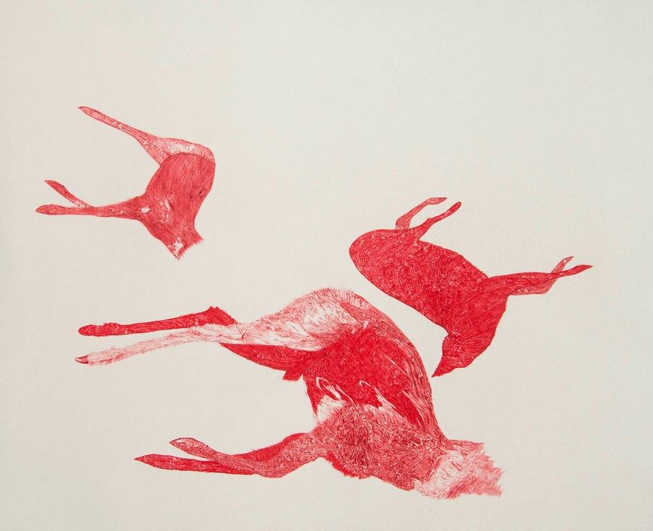 Nemanja Milenkovic - Iz serije Nepoznati, br 2, hemijska olovka na papiru, 65x50 cm, 2018