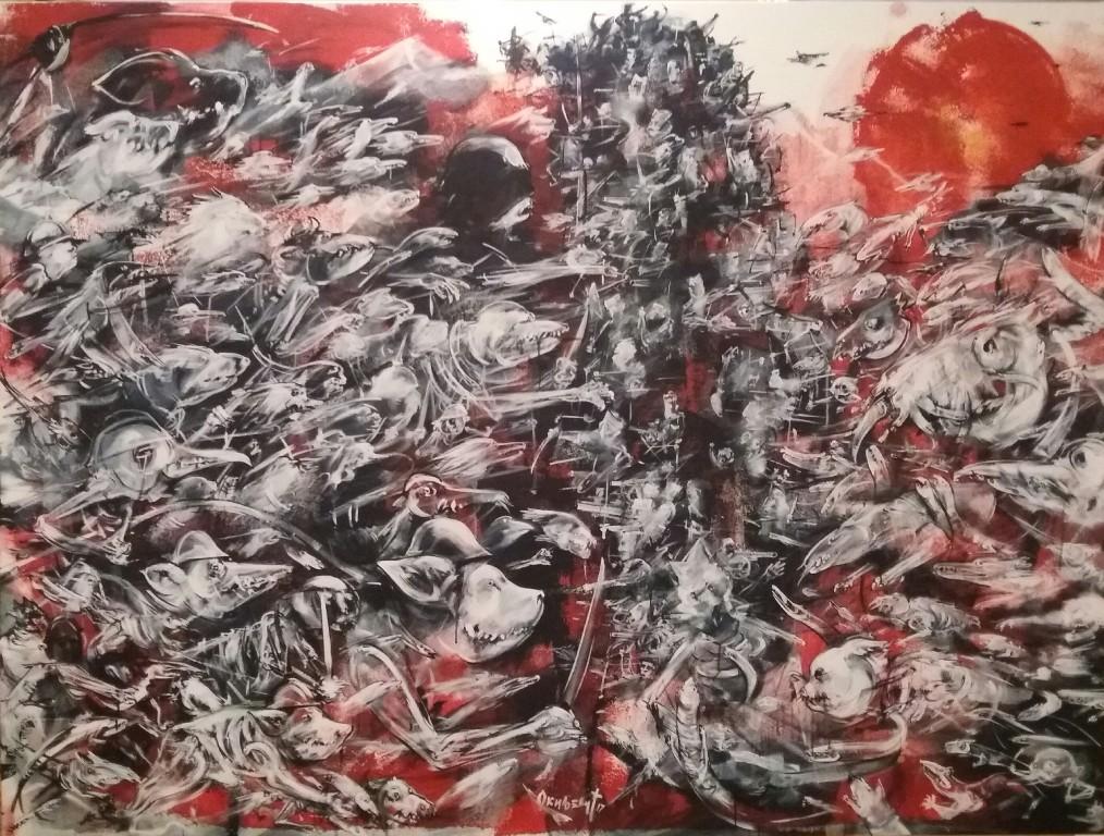 Nemanja Okiljevic - 1915 150 x 200 cm, akril na platnu 2017