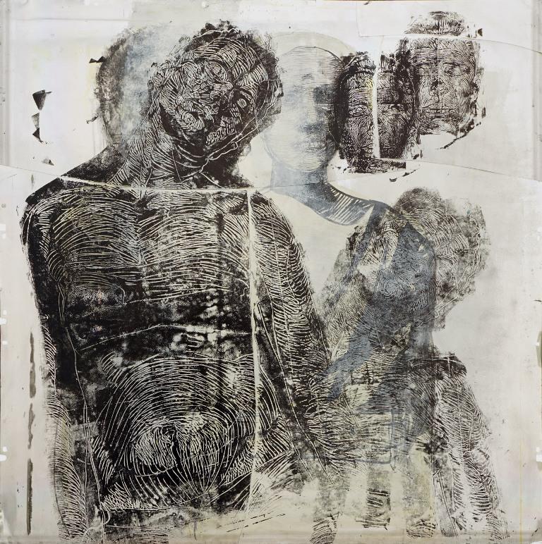 rad Tijane Kojic Somnabulizam, ulje na aluminijumu, 100 x 100 cm, 2015, Osten kolekcija