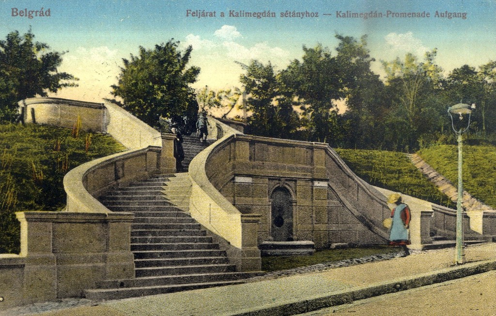 Kalemegdan - Male stepenice - Jelisaveta Nacic