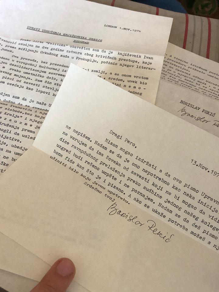 Borislav Pekic pisma