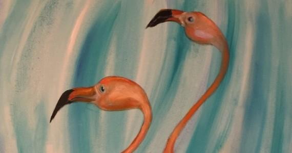 Miša Mihajlo Kravcev - Žar flamingosa 70x100 -
