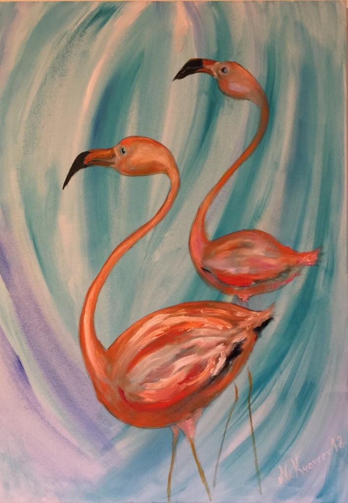 Miša Mihajlo Kravcev - Žar flamingosi 70x100