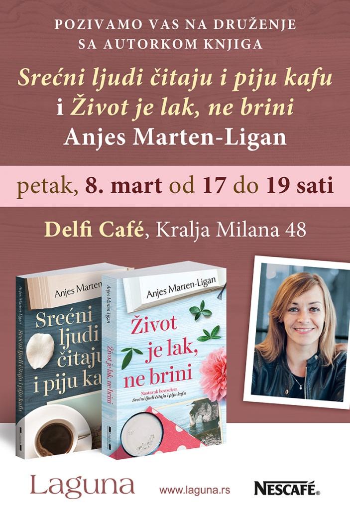 Anjes Marten Ligan - Srecni ljudi citaju i piju kafu - Zivot je lak ne brini - Laguna