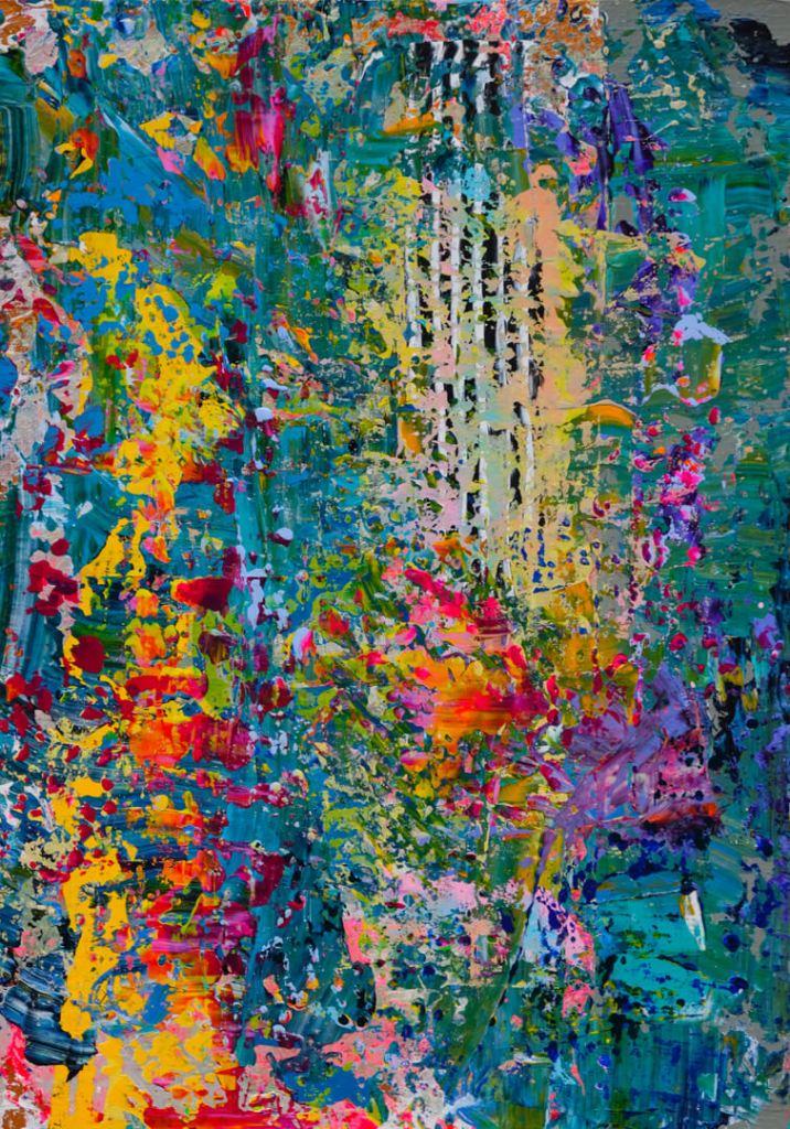 Vuk Vuckovic - Andromeda, 100x70cm, akrilne boje na platnu, 2019