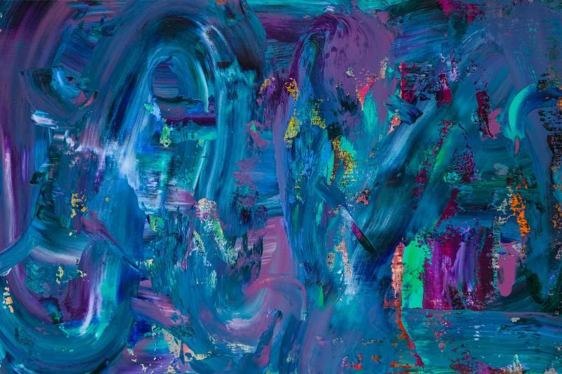 Vuk Vuckovic - Galaxy RGB, 100x150cm, akrilne boje na platnu, 2019