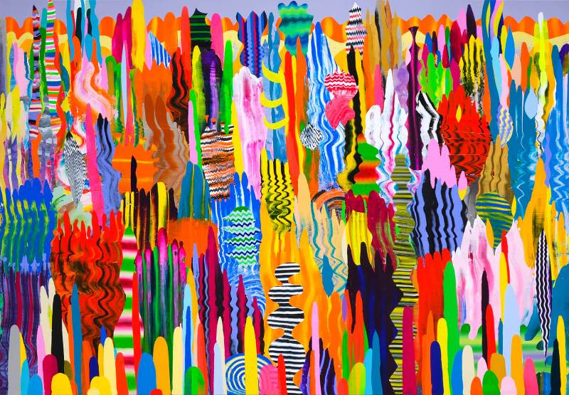 Vuk Vuckovic - Love Joy 2, 150x215cm akrilne boje na platnu, 2019