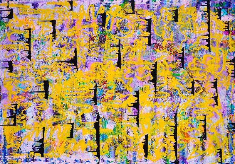 Vuk Vuckovic -Virgo, 150x215cm akrilne boje na platnu, 2019